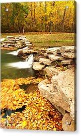 Fall Serenity Acrylic Print by Gregory Ballos