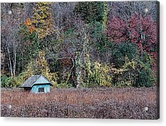 Fall Shed #1 Acrylic Print by Glenn Cuddihy