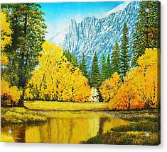 Fall Splendor In Yosemite Acrylic Print by Douglas Castleman