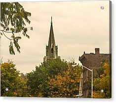 Fall Steeple Acrylic Print