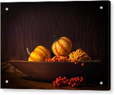Acrylic Print featuring the photograph Fall Still Life by Wayne Meyer