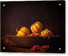 Fall Still Life Acrylic Print by Wayne Meyer