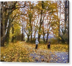 Fall Stroll Acrylic Print by Barry Jones
