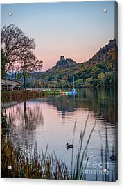 Acrylic Print featuring the photograph Fall Sugarloaf With Duck by Kari Yearous