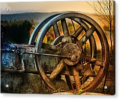 Fall Through The Wheels Acrylic Print by Susan Capuano