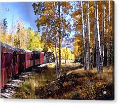 Fall Train Ride New Mexico Acrylic Print by Kurt Van Wagner