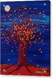 Acrylic Print featuring the painting Fall Tree Fantasy By Jrr by First Star Art
