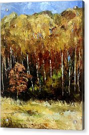 Fall Trees Three Acrylic Print by Lindsay Frost