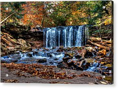 Acrylic Print featuring the photograph Fall Water Fantasy by David Stine