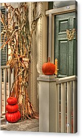Fall Welcome Acrylic Print by Heather Allen