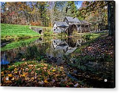 Fallen Leaves At Mabry Mill Acrylic Print