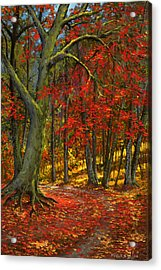 Fallen Leaves Acrylic Print by Frank Wilson