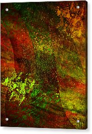 Acrylic Print featuring the mixed media Fallen Seasons by Ally  White