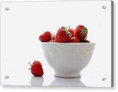 Fallen Strawberry Acrylic Print by Brendan Quinn