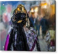 Acrylic Print featuring the photograph Fallera. Valencia. Spain by Juan Carlos Ferro Duque