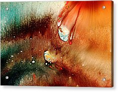 Falling Comet Colorful Abstract Art By Kredart Acrylic Print