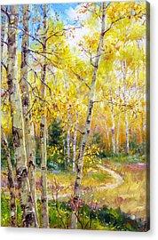 Falling Gracefully Acrylic Print by Bill Inman