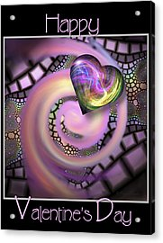 Falling In Love - Valentine Card / Poster Acrylic Print
