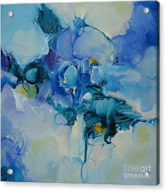 Acrylic Print featuring the painting falling into blue I by Elis Cooke