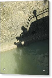 Acrylic Print featuring the photograph Falling Into The Water by Menega Sabidussi