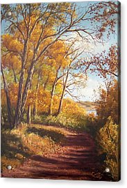 Falling Leaves Acrylic Print