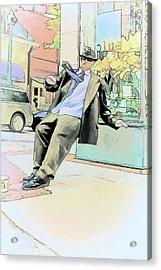 Falling Over Backwards Acrylic Print by John Haldane