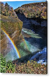 Acrylic Print featuring the photograph Falling Rainbow by David Stine