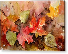 Acrylic Print featuring the painting Falling by Sandra Strohschein