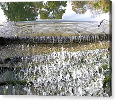 Acrylic Print featuring the photograph Falling Water by Teresa Schomig