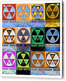 Fallout Shelter Mosaic Acrylic Print by Stephen Stookey