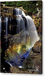 Falls And Rainbow Acrylic Print by Paul W Faust -  Impressions of Light