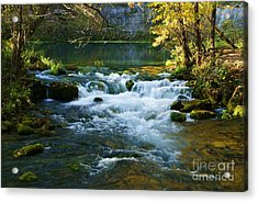Acrylic Print featuring the photograph Falls At Alley Spring Mill by Julie Clements