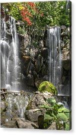 Falls At Anderson Japanese Gardens Acrylic Print