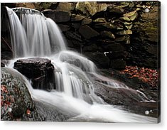 Falls At Melville Acrylic Print by Andrew Pacheco