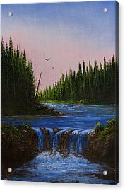 Falls At Rivers Bend Acrylic Print by C Steele