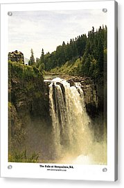 Acrylic Print featuring the photograph Falls At Snoqualmie by Kenneth De Tore