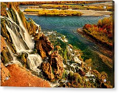 Falls Creek Waterfall Acrylic Print by Greg Norrell