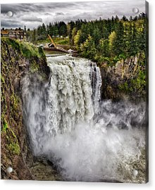 Falls In Love Acrylic Print by James Heckt