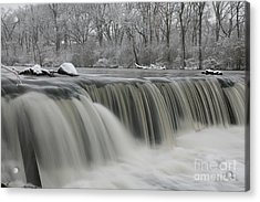 Falls In Winter Acrylic Print