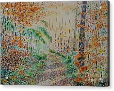 Acrylic Print featuring the painting Falls Melody by Alfred Motzer
