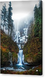 Falls Of Heaven Acrylic Print by James Heckt