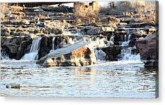 Falls Park Waterfalls Acrylic Print by Lori Tordsen