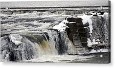 Falls Acrylic Print by Valerie Wolf