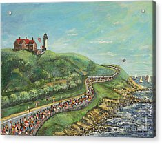 Falmouth Road Race Acrylic Print by Rita Brown
