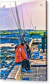 False Bay Fishing 1 Acrylic Print