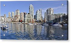False Creek And Vancouver Acrylic Print by Allen Carroll