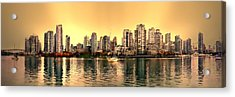False Creek And Yaletown Panorama In Vancouver Canada Acrylic Print