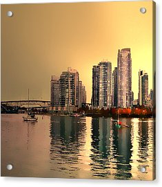 False Creek Vancouver Triptych Left Panel Acrylic Print by Patricia Keith