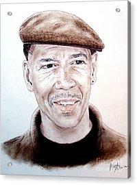 Falsely Imprisoned Boxer Dewey Bozella Acrylic Print by Jim Fitzpatrick