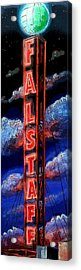 Falstaff Neon Tower Sign Acrylic Print by Terry J Marks Sr